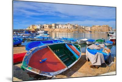 Panoramic View of Gallipoli. Puglia. Southern Italy.-Mi.Ti.-Mounted Photographic Print