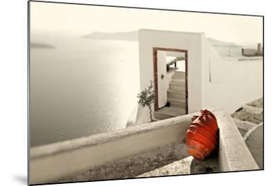 Romantic Holidays - Amazing Santorini . Artistic Toned Picture-Maugli-l-Mounted Photographic Print