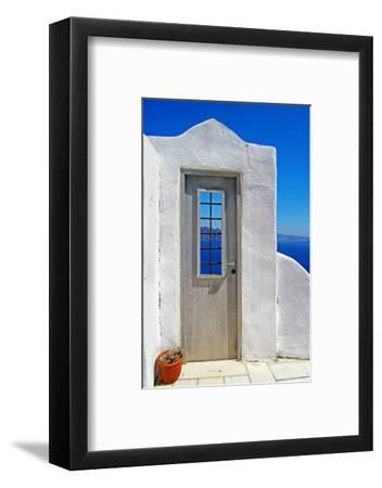 Architectural Details of Santorini - Traditional Cycladic Style-Maugli-l-Framed Photographic Print