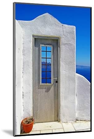Architectural Details of Santorini - Traditional Cycladic Style-Maugli-l-Mounted Photographic Print