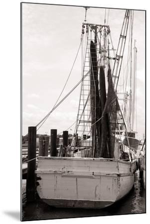 Old Shrimp Boat in Marina-R. Peterkin-Mounted Photographic Print
