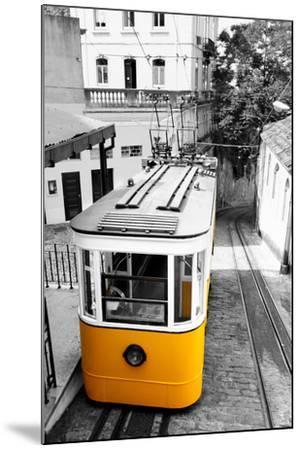 Funicular (Elevador Do Lavra) in Lisbon, Portugal-Zoom-zoom-Mounted Photographic Print