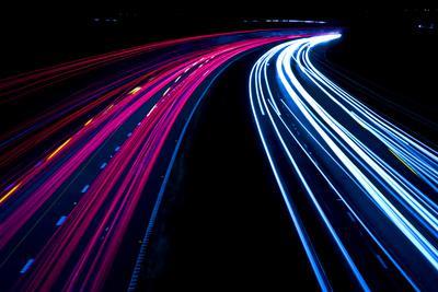 Motorway Light Trails-urbanbuzz-Framed Photographic Print