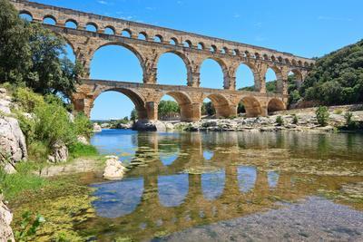 Roman Aqueduct Pont Du Gard, Languedoc, France. Unesco Site.-stevanzz-Framed Photographic Print