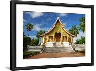Temple in Luang Prabang Museum, Laos-lkunl-Framed Photographic Print