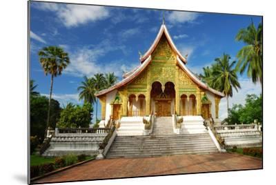 Temple in Luang Prabang Museum, Laos-lkunl-Mounted Photographic Print