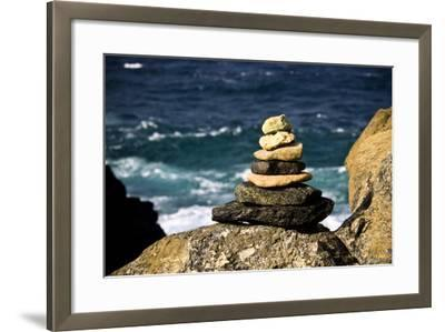 Stone Pile-Redwall-Framed Photographic Print