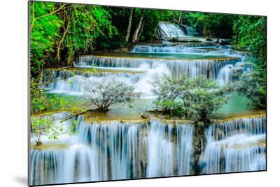 Huay Mae Khamin - Waterfall, Flowing Water, Paradise in Thailand.-ThaiWanderer-Mounted Photographic Print