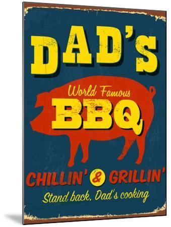 Vintage Design -  Dad's BBQ-Real Callahan-Mounted Photographic Print