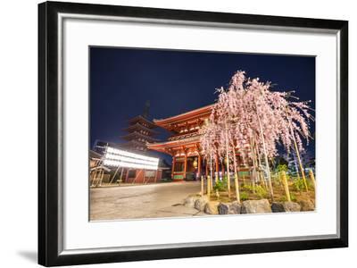 Tokyo, Japan at Senso-Ji Temple in the Asakusa District.-SeanPavonePhoto-Framed Photographic Print