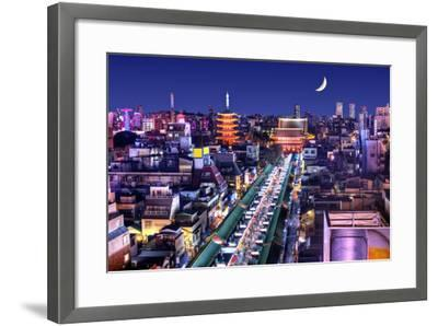 Skyline of the Asakusa District in Tokyo, Japan with Famed Temples.-SeanPavonePhoto-Framed Photographic Print