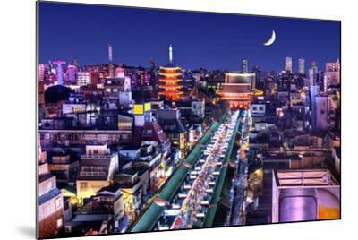 Skyline of the Asakusa District in Tokyo, Japan with Famed Temples.-SeanPavonePhoto-Mounted Photographic Print