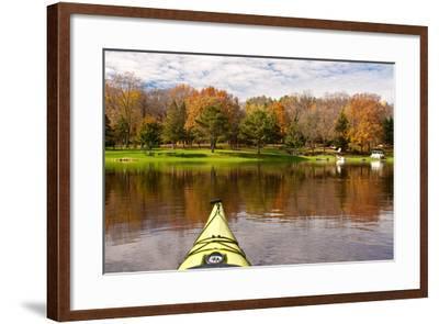 Kayaking, St. Croix River-Steven Gaertner-Framed Photographic Print