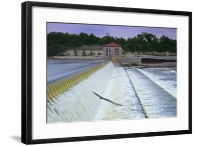 Powerhouse and Dam Spillway-jrferrermn-Framed Photographic Print