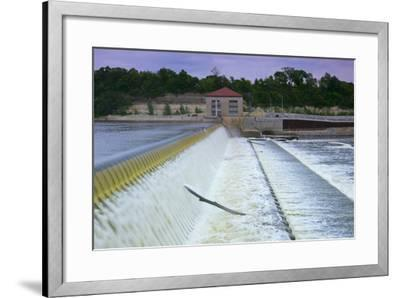Powerhouse and Dam Spillway-jrferrermn-Framed Photographic Print