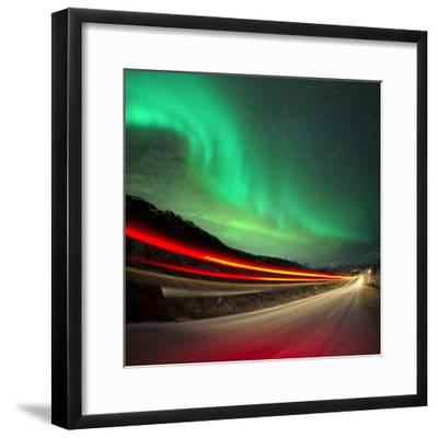 Northern Lights and Trails-Solarseven-Framed Photographic Print