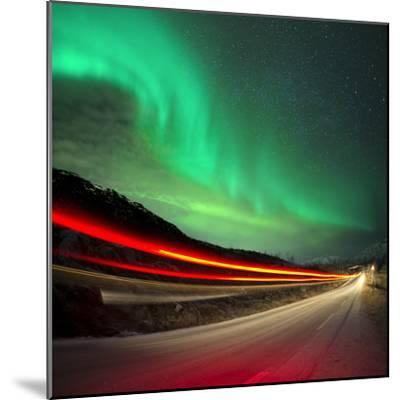 Northern Lights and Trails-Solarseven-Mounted Photographic Print