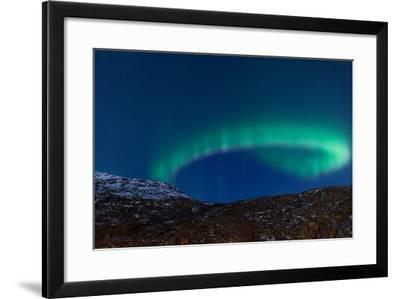 Northern Lights (Aurora Borealis) between Fjords-Jamenpercy-Framed Photographic Print