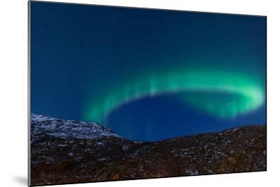 Northern Lights (Aurora Borealis) between Fjords-Jamenpercy-Mounted Photographic Print