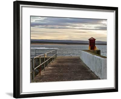 Burghead, Walking the Pier Plank.-Jasperimage-Framed Photographic Print
