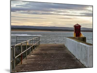 Burghead, Walking the Pier Plank.-Jasperimage-Mounted Photographic Print