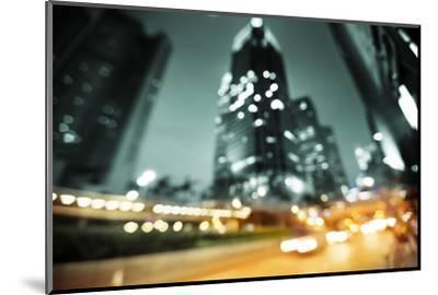 Night Lights of the Hong Kong out of Focus-Iakov Kalinin-Mounted Photographic Print