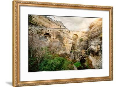 Ronda Bridge and Canyon, Spain-amok-Framed Photographic Print
