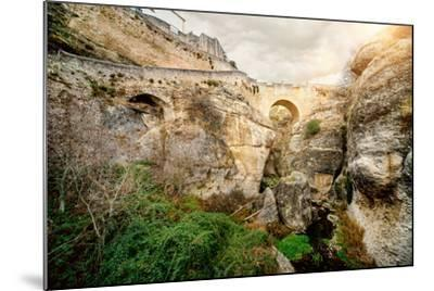 Ronda Bridge and Canyon, Spain-amok-Mounted Photographic Print