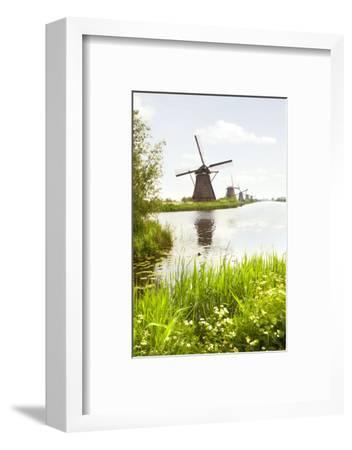 Row of Windmills in Kinderdijk, the Netherlands-Colette2-Framed Photographic Print