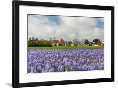 Small Village Den Hoorn with White Church at Dutch Wadden Island Texel-Ivonnewierink-Framed Photographic Print