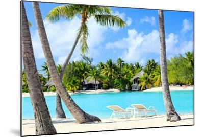 Beautiful Beach on Bora Bora Island in French Polynesia-BlueOrange Studio-Mounted Photographic Print