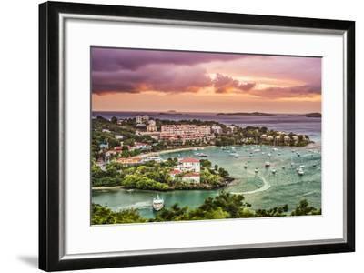 Cruz Bay, St John, United States Virgin Islands.-SeanPavonePhoto-Framed Photographic Print