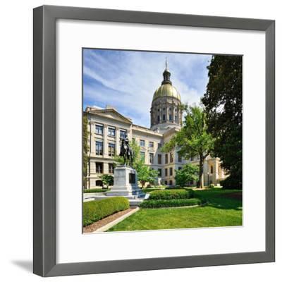 Georgia State Capitol Building in Atlanta, Georgia, Usa.-SeanPavonePhoto-Framed Photographic Print