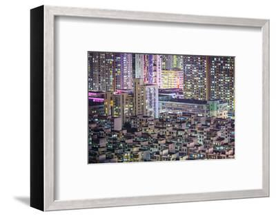 Shenzhen, China City Skyline at Twilight.-SeanPavonePhoto-Framed Photographic Print