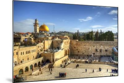 Western Wall and Dome of the Rock in the Old City of Jerusalem, Israel.-SeanPavonePhoto-Mounted Photographic Print