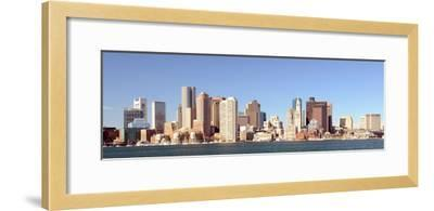 Financial District of Boston, Massachusetts Viewed from Boston Harbor.-SeanPavonePhoto-Framed Photographic Print