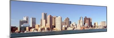 Financial District of Boston, Massachusetts Viewed from Boston Harbor.-SeanPavonePhoto-Mounted Photographic Print