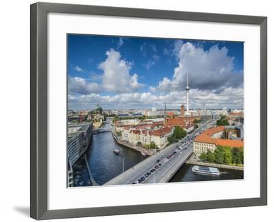 Berlin, Germany Viewed from above the Spree River.-SeanPavonePhoto-Framed Photographic Print
