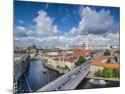 Berlin, Germany Viewed from above the Spree River.-SeanPavonePhoto-Mounted Photographic Print