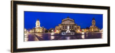 Historic Gendarmenmarkt Square in Berlin, Germany.-SeanPavonePhoto-Framed Photographic Print