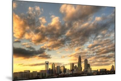 Skyline of Uptown Charlotte, North Carolina under Dramatic Cloud Cover.-SeanPavonePhoto-Mounted Photographic Print