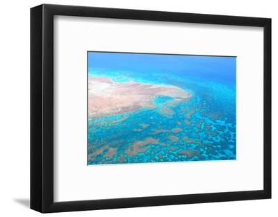 Great Barrier Reef, Cairns Australia, Seen from Above-dzain-Framed Photographic Print