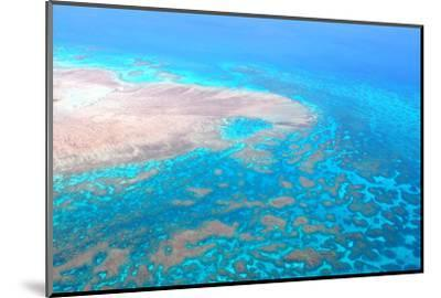 Great Barrier Reef, Cairns Australia, Seen from Above-dzain-Mounted Photographic Print