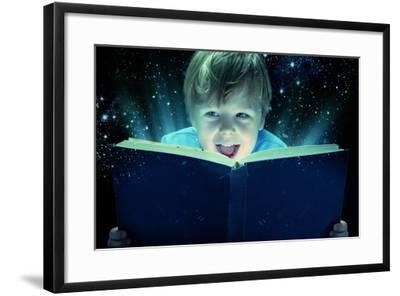 Child Opened a Magic Book-conrado-Framed Photographic Print