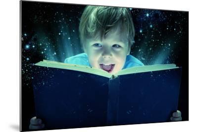 Child Opened a Magic Book-conrado-Mounted Photographic Print