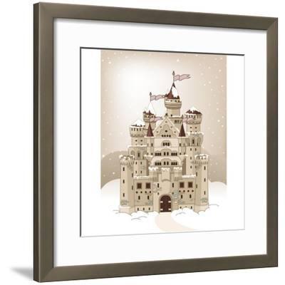 Magic Fairy Tale Winter Princess Castle. Raster Version.-Dazdraperma-Framed Photographic Print