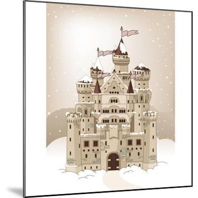 Magic Fairy Tale Winter Princess Castle. Raster Version.-Dazdraperma-Mounted Photographic Print