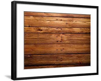 The Brown Wood Texture with Natural Patterns-Irochka-Framed Photographic Print