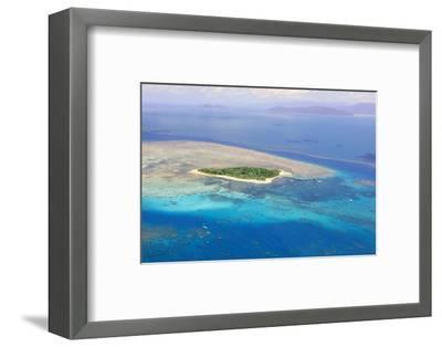 Green Island at Great Barrier Reef near Cairns Australia Seen from Above-dzain-Framed Photographic Print