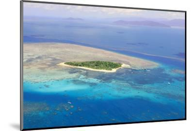 Green Island at Great Barrier Reef near Cairns Australia Seen from Above-dzain-Mounted Photographic Print